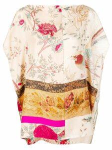 Pierre-Louis Mascia multi-pattern draped blouse - Neutrals