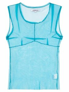 Supriya Lele Saree sheer-mesh vest top - Blue