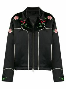 Diesel Black Gold cropped jacket in embroidered duchesse