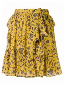 Ulla Johnson Zea floral print skirt - Yellow