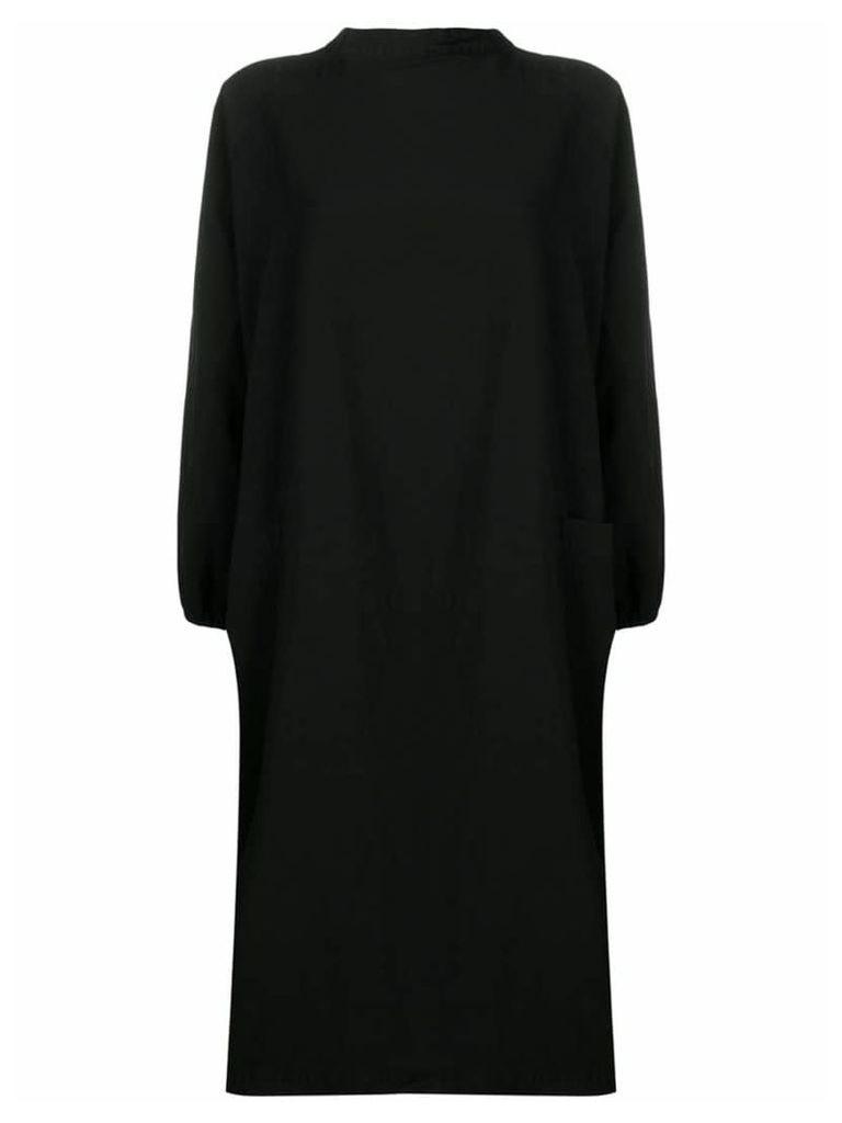 Comme Des Garçons Comme Des Garçons long-sleeved midi dress - Black