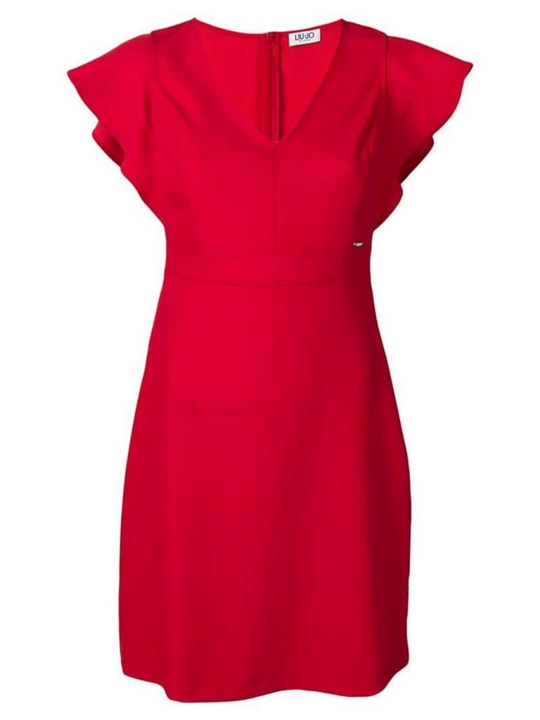 Liu Jo flutter sleeve mini dress - Red