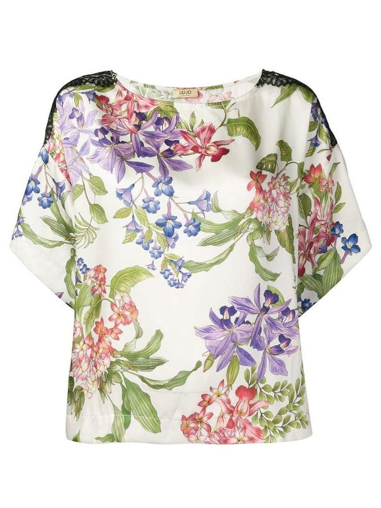 Liu Jo fantasia floral blouse - Neutrals