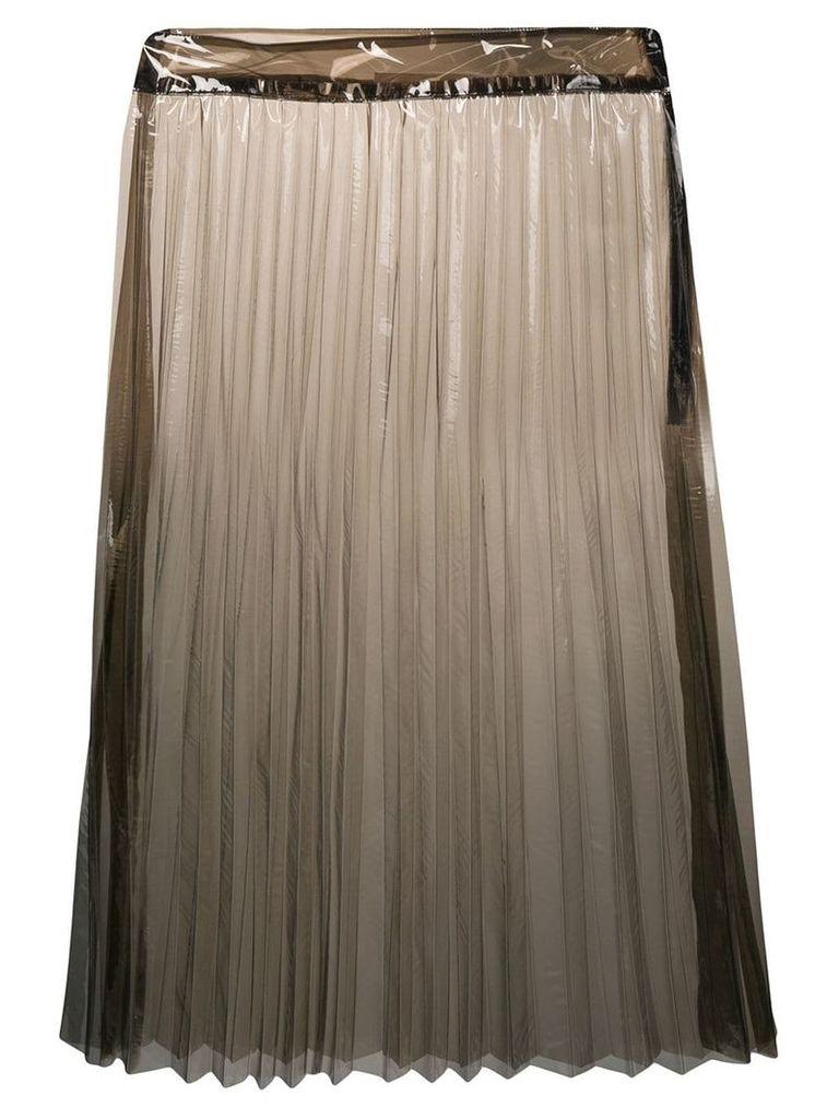 Ssheena transparent pleated skirt - Black