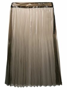 Ssheena transparent pleated skirt - Black