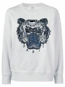 Kenzo beaded signature tiger head sweatshirt - Grey