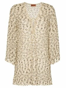 Missoni Mare scale-effect knitted beach dress - Metallic