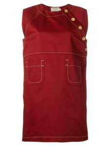 Maison Kitsuné button dress - Red