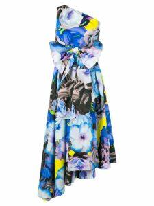 MSGM floral print dress - Blue