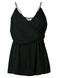 MSGM draped wrap top - Black