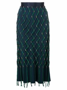 Cushnie fishnet skirt - Blue