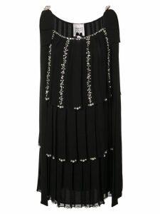 Edward Achour Paris macro-pleated dress - Black