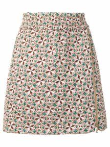 Nº21 jacquard mini skirt - Pink