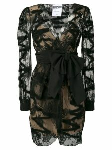 Moschino sheer bow-tie dress - Black