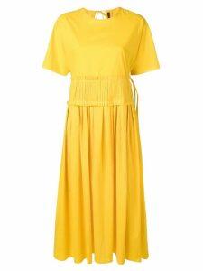 Sara Lanzi pleated waist dress - Yellow