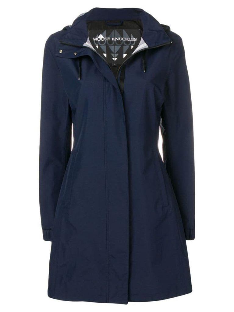 Moose Knuckles concealed zip coat - Blue