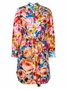 MSGM floral shirt dress - Pink