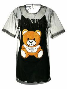 Moschino tulle Bear T-shirt dress - Black
