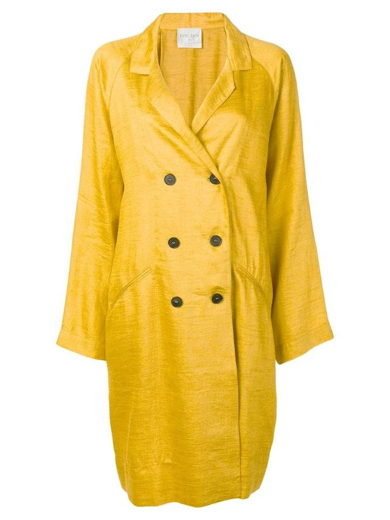 Forte Forte oversized double-breasted jacket - Yellow