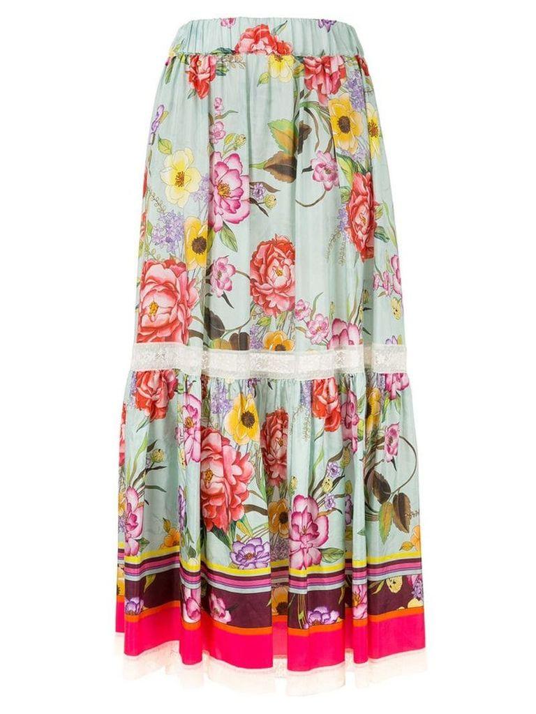 P.A.R.O.S.H. floral print maxi skirt - Multicolour