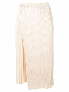 Vince pleated midi skirt - Neutrals