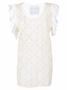 Philosophy Di Lorenzo Serafini embroidered top - Neutrals