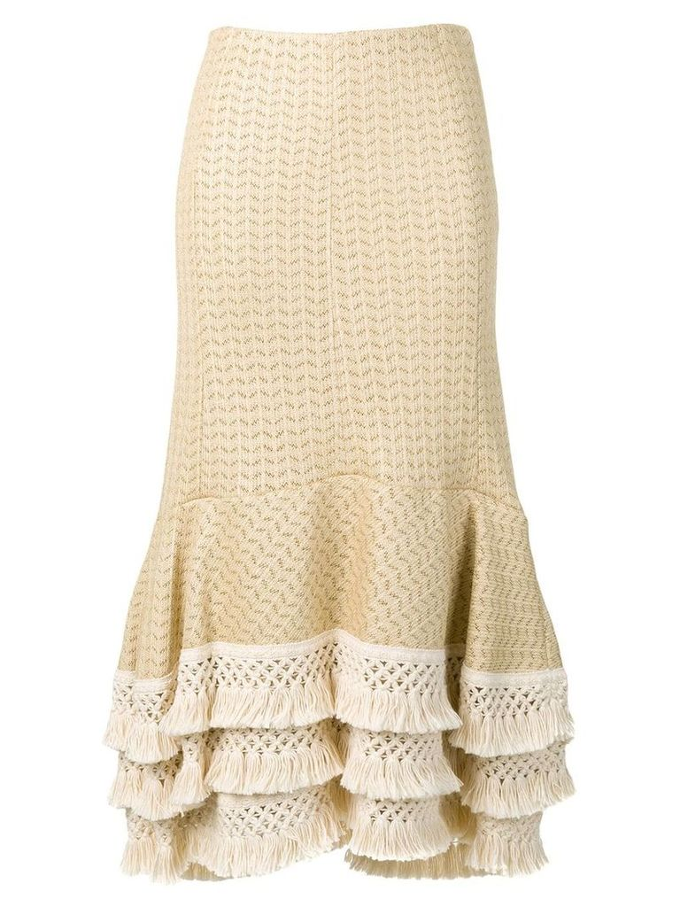 3.1 Phillip Lim fringed midi skirt - Neutrals