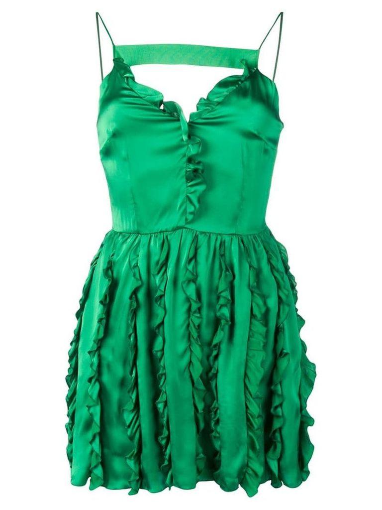 Brognano short ruffled dress - Green