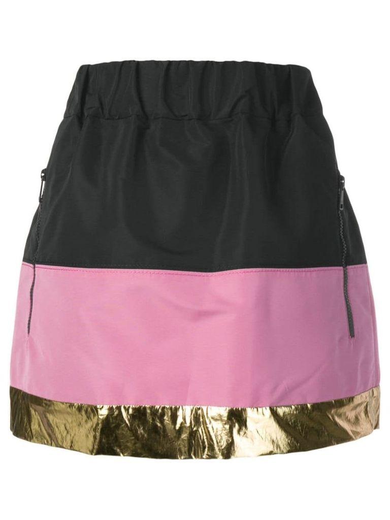 Nº21 colour block skirt - Black