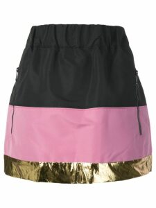 Nº21 colour block skirt - Black