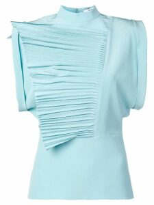 Givenchy pleated ruffles top - Blue