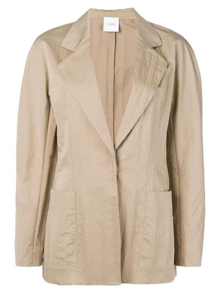 Agnona single-breasted blazer - Brown