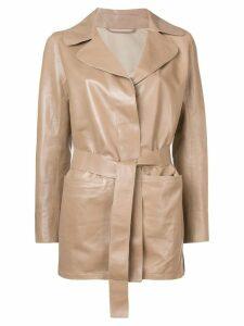 Sylvie Schimmel Mirage Love leather jacket - Neutrals