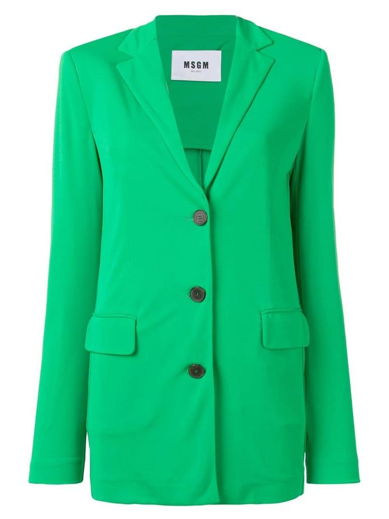 MSGM single-breasted blazer - Green