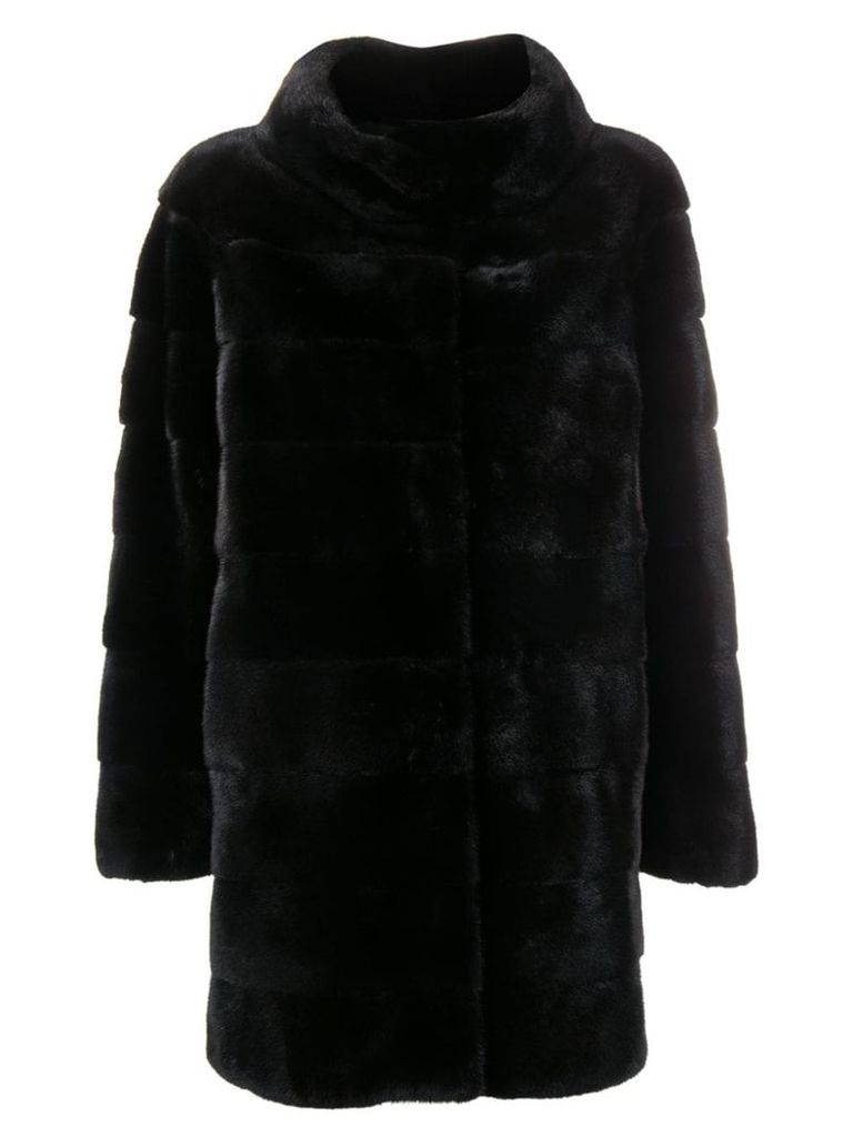 Liska Philippa fur coat - Black