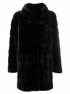 Liska Philippa fur coat - Black
