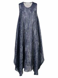 Tsumori Chisato crinkle-effect metallic dress - Blue