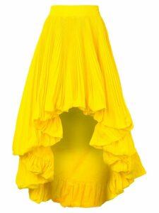 Alexandre Vauthier asymmetric pleated skirt - Yellow