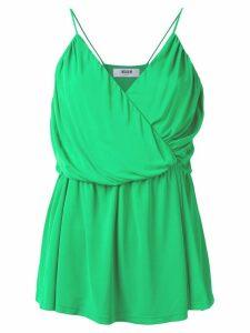 MSGM draped wrap top - Green