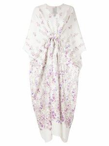 Ingie Paris floral kimono style dress - White