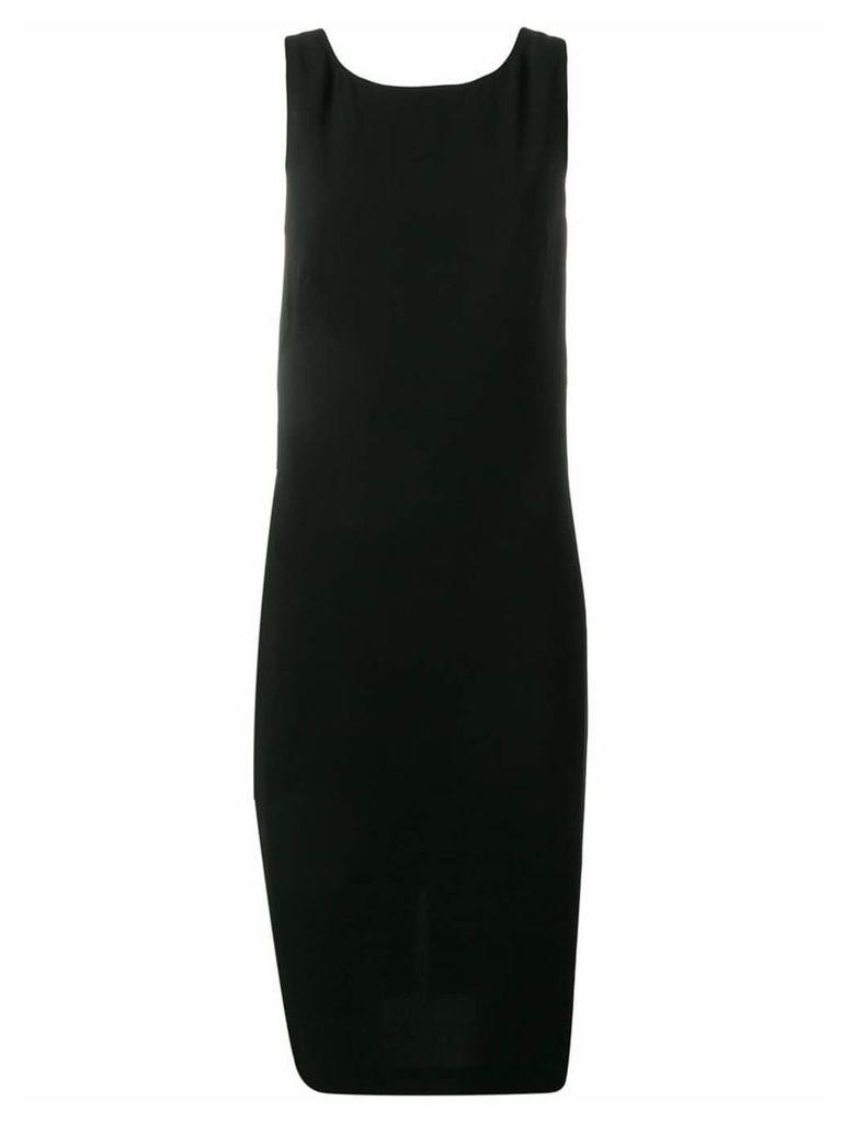 Aspesi fitted cross back dress - Black