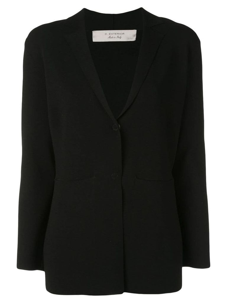 D.Exterior knitted blazer - Black