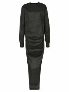 Rick Owens double-layer maxi dress - Black