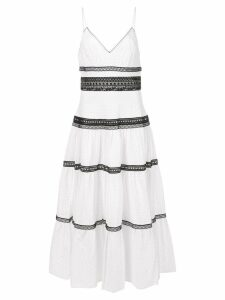 Jill Jill Stuart contrasting trim sun dress - White