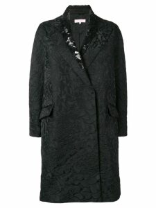 Dice Kayek sequin collared coat - Black