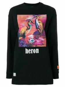 Heron Preston Duck print longline jumper - Black