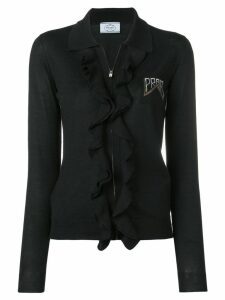 Prada ruffled knitted cardigan - Black