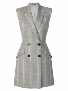 Alexander McQueen checked blazer dress - Grey