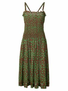 Molly Goddard polka dot midi dress - Brown