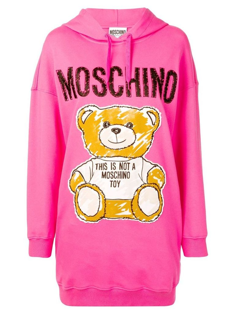 Moschino Teddy Bear hooded dress - Pink